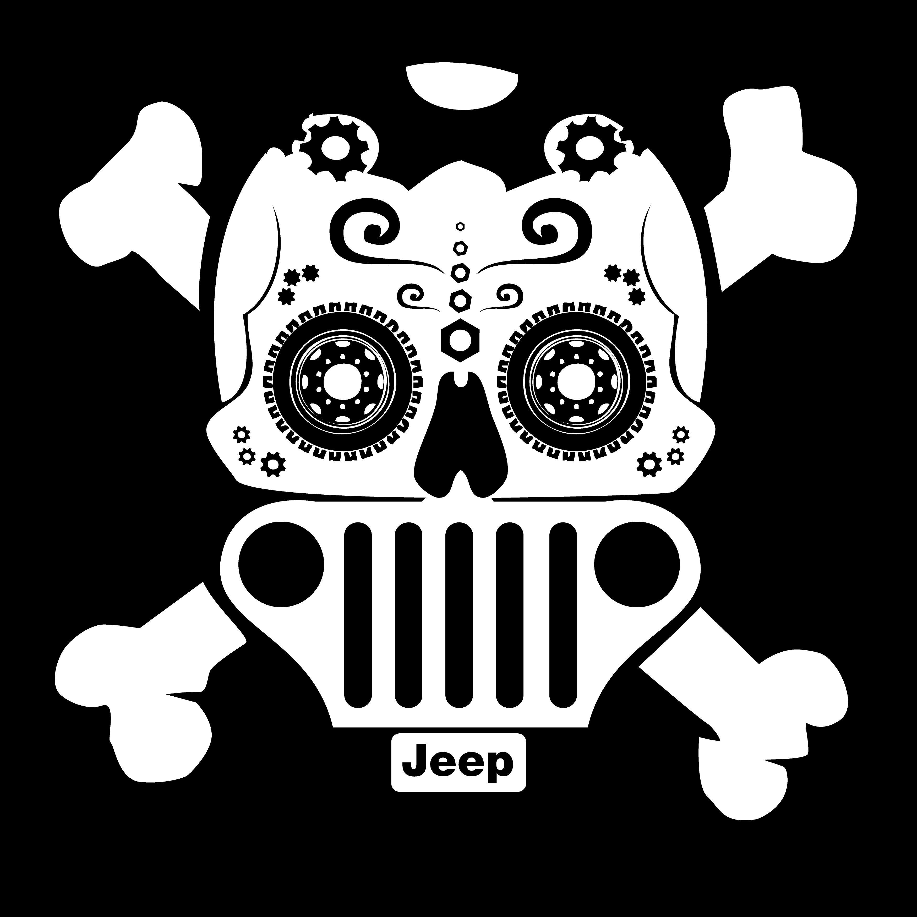 Jeep Themed Sugar Skull Jeep Stickers Jeep Wrangler Accessories Decals Jeep Tattoo
