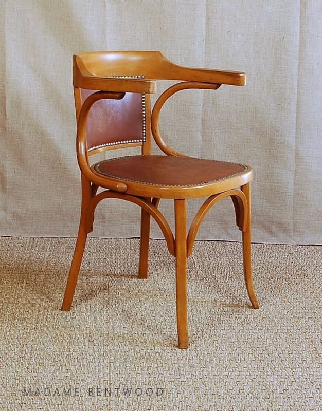 Fauteuil Bureau Style Bistrot Baumann Annees 50 Luckyfind Fr Fauteuil Bureau Chaise Vintage Fauteuil