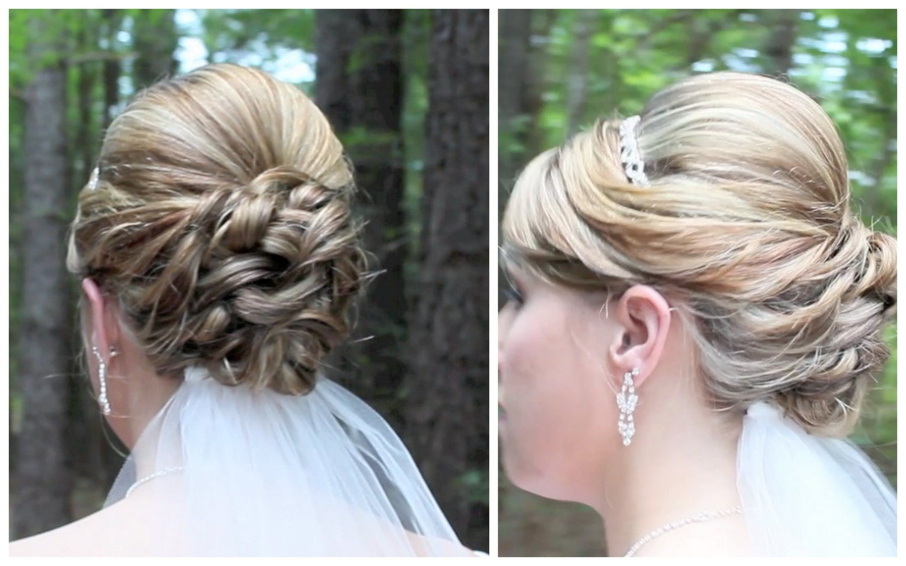 AMAZING Shoulder Length Wedding Updo.