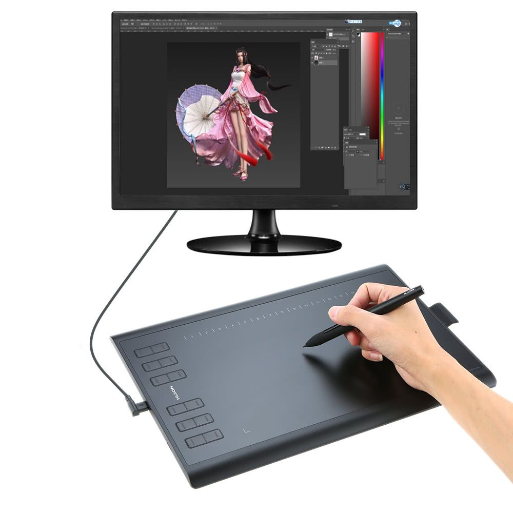 Huion New 1060PLUS Graphic Drawing Tablet with Digital