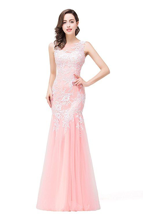 See Through Sleeveless Long Evening Dresses with Appliques in Women,6