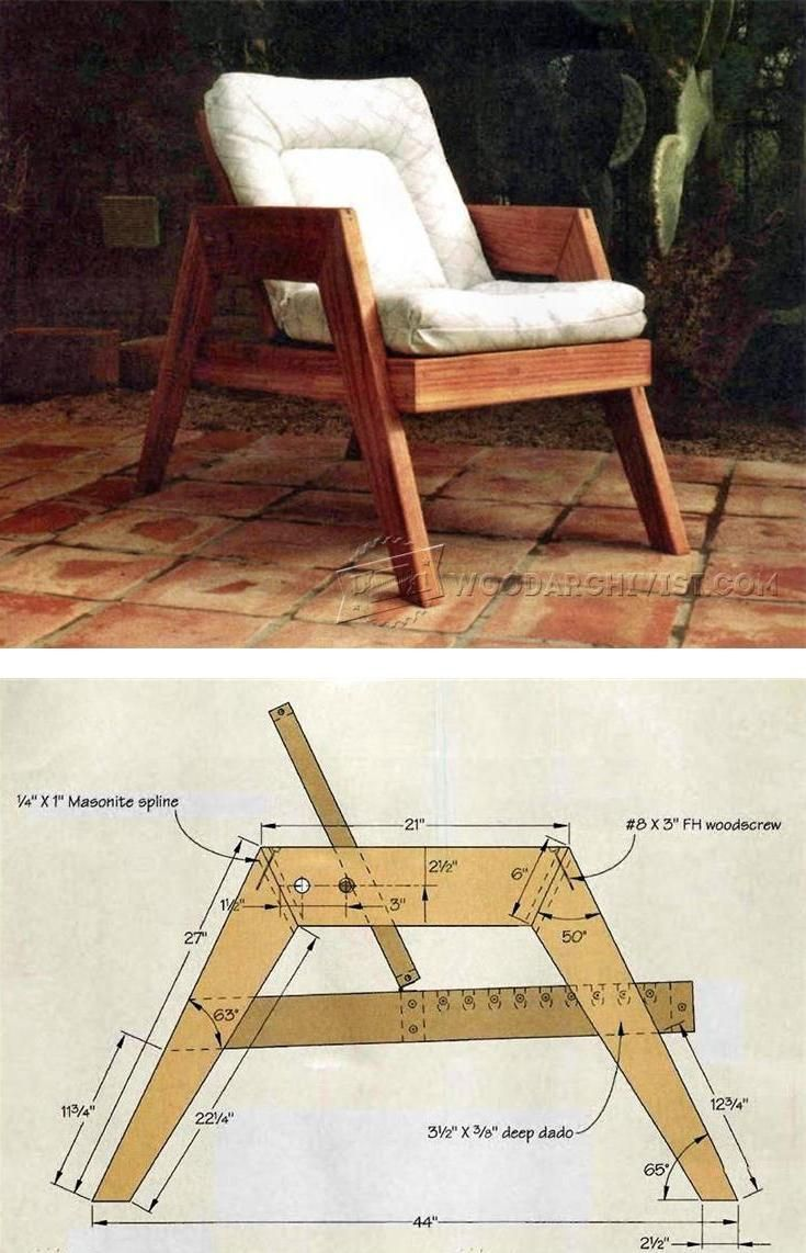 Deck Furniture Plans - Outdoor Furniture Plans and Projects ...