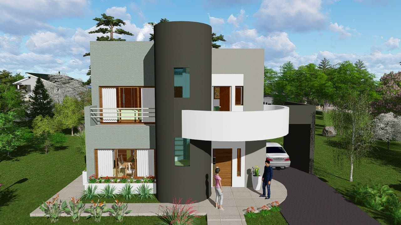 Planos De Casas Pequenas Modernas De Dos Pisos Y De Una Planta Small House Design Plans House Layout Plans House Design
