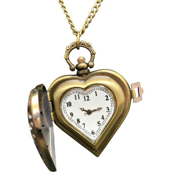 Heart locket clock necklace to get pinterest heart locket and heart locket clock necklace aloadofball Choice Image