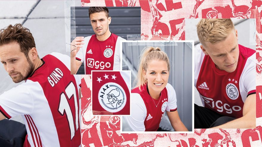 brand new 77cb5 3cce8 19-20 Ajax Home Red&White Soccer Jerseys Shirt.. Visit our ...