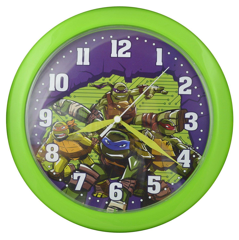 Teenage mutant ninja turtles u wall clock play room clock