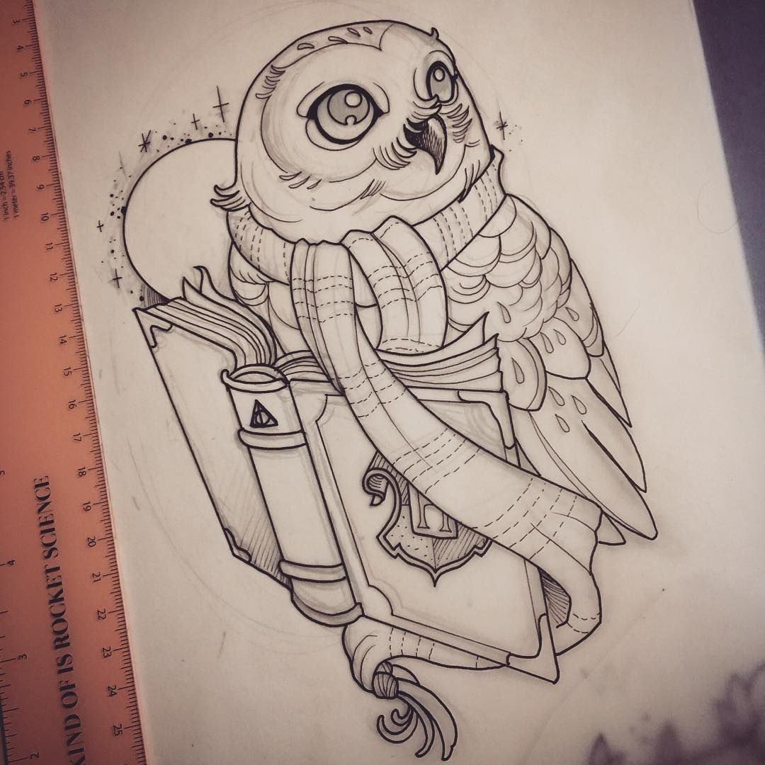 Tattoo Finka Owl Everything Hp Related Harry Pottertattoo