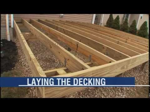 How To Build A Deck Part 4 Of 6 Framing And Decking Deck Framing Diy Deck Building A Deck