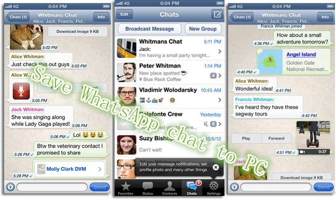 Extract WhatsApp chat history to PC whatsapptips Free