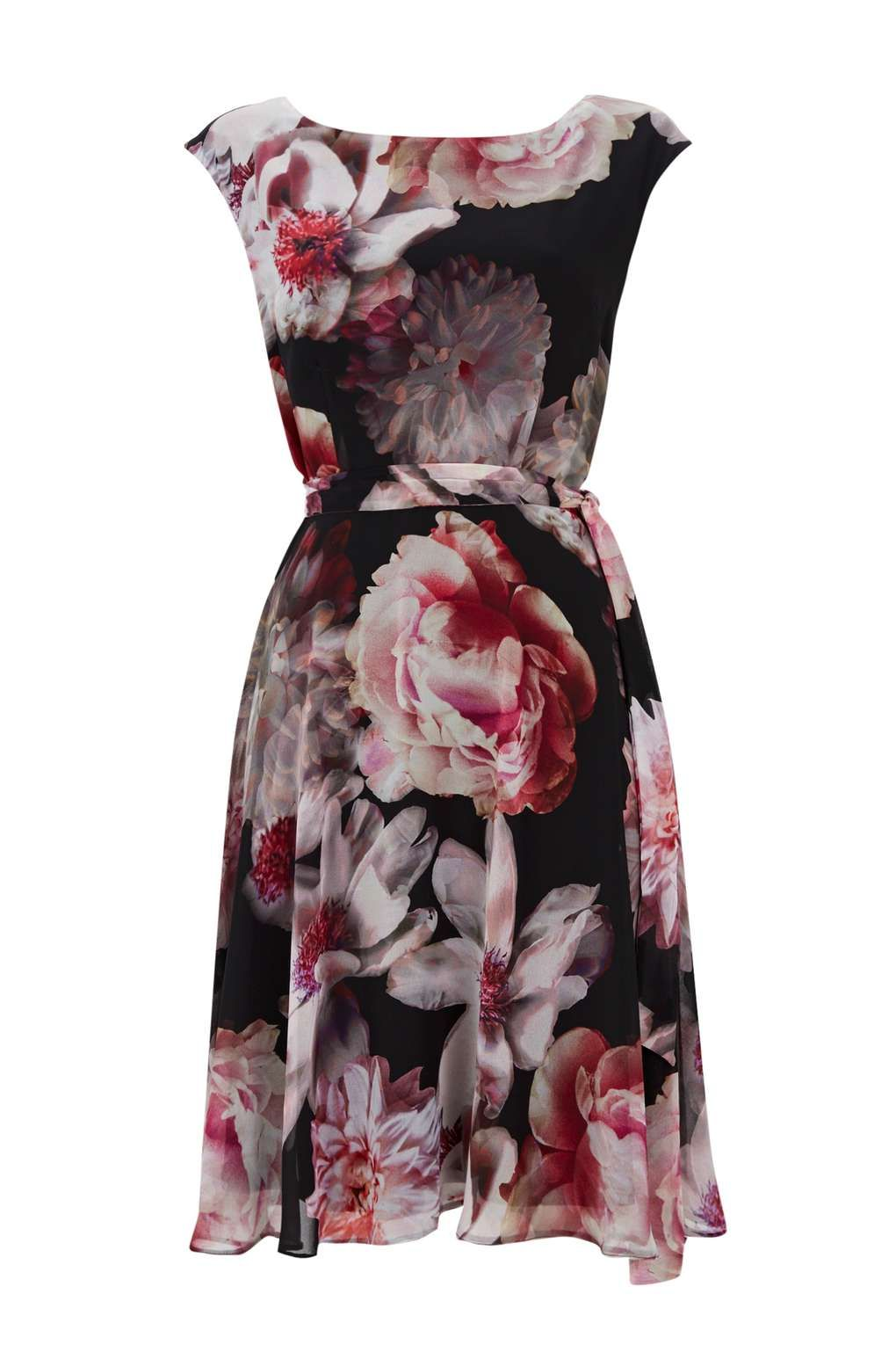 Black floral fit and flare dress fit and flare dress