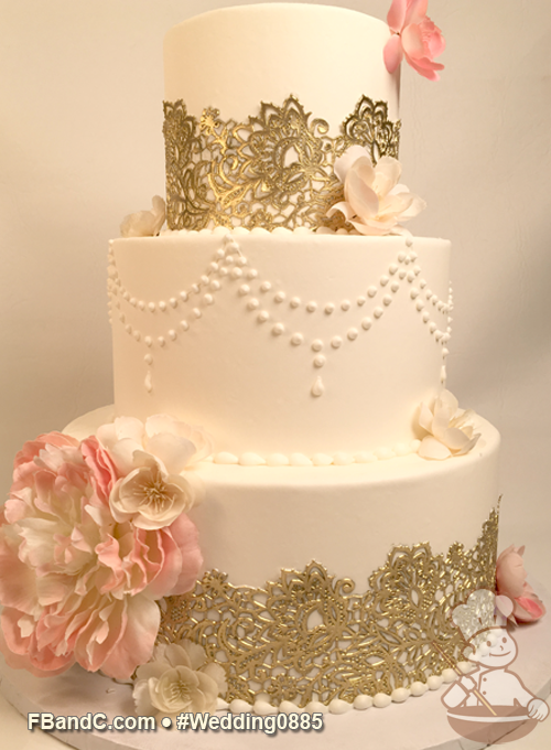 Design W 0885 | Butter Cream Wedding Cake | 12\