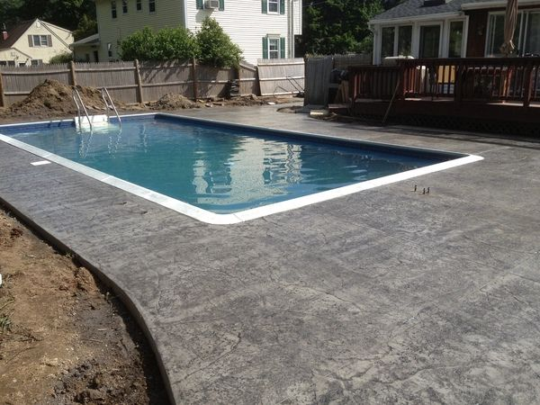 Pool Deck Heavy Stone Texture Light Grey Storm Gre Stone Texture