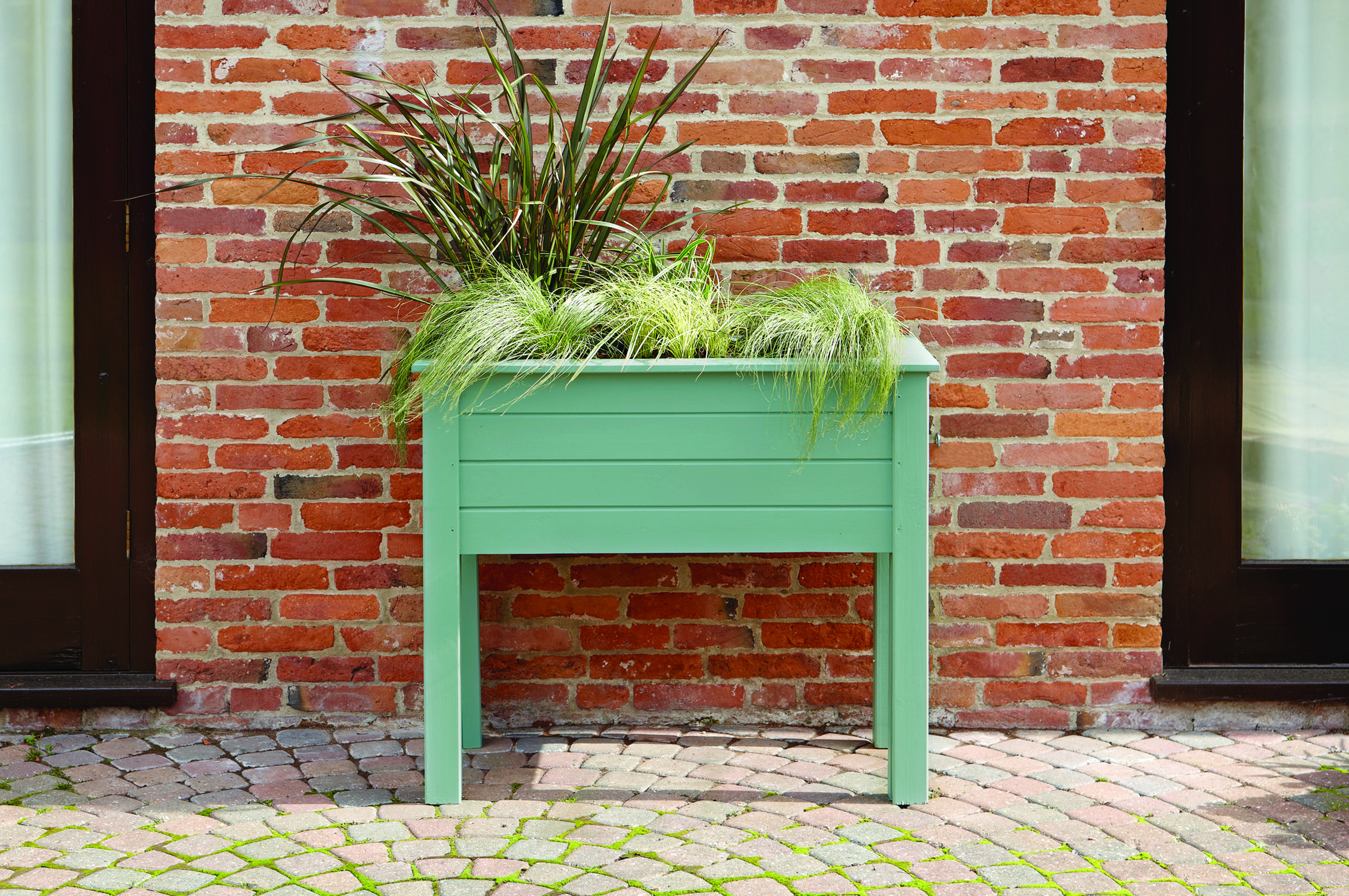 Ronseal Garden Paint in Sage. Gives a planter a fresh look.   Colour ...