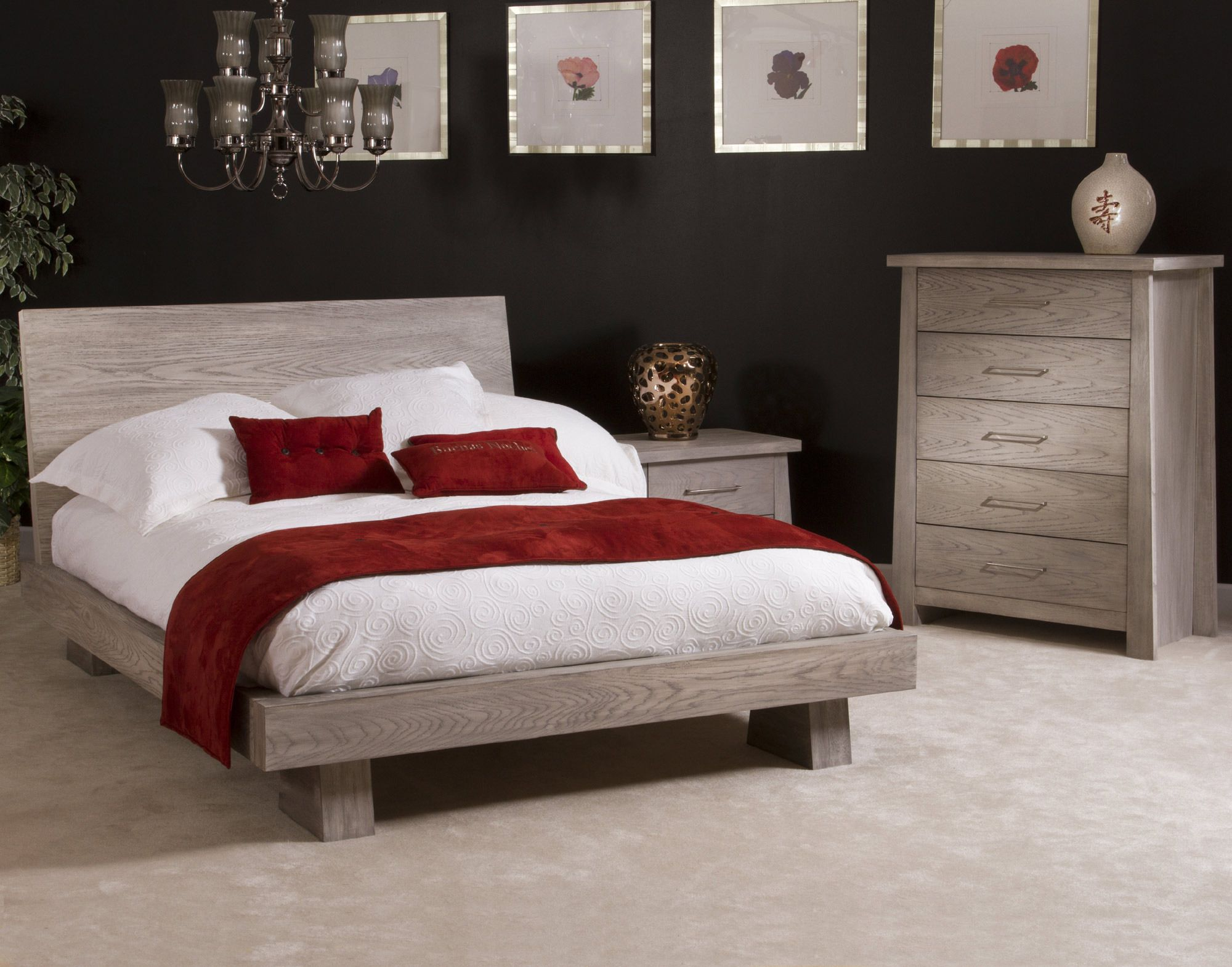 Queen Low Profile Bed Ligna Furniture