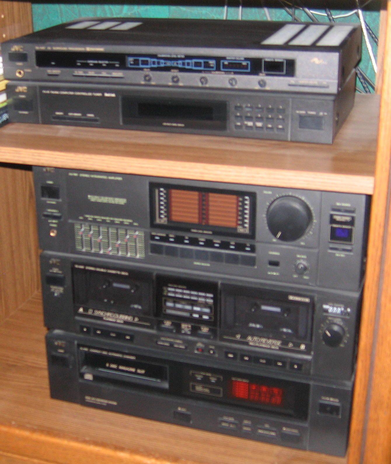 jvc surround sound system and speakers yard sale 10 24. Black Bedroom Furniture Sets. Home Design Ideas