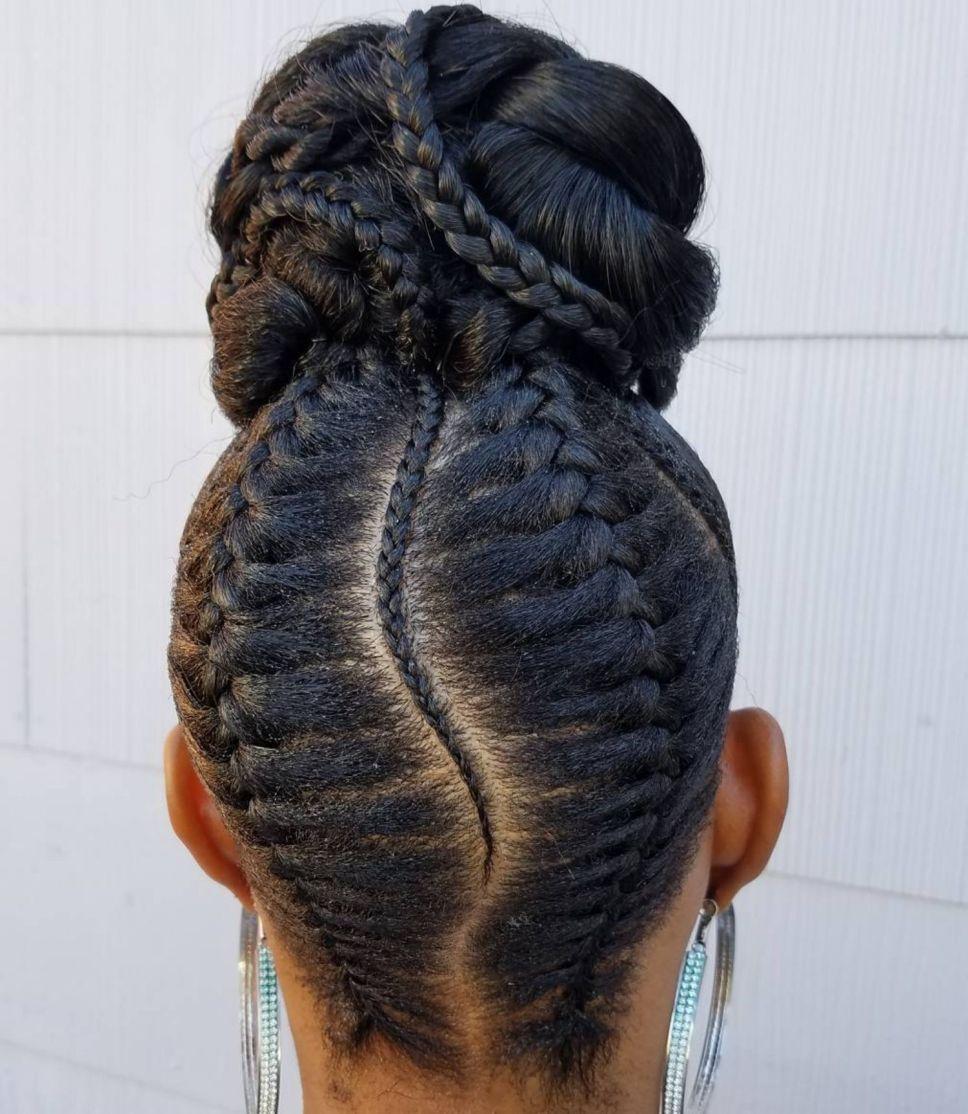 50 Updo Hairstyles for Black Women Ranging from Elegant to Eccentric #bunshairstylesforblackwomen