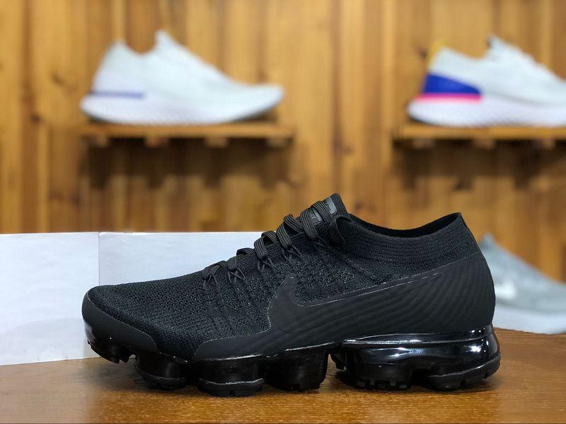 7234acd5fd0e 2018 Nike Air Vapormax Flyknit Mens Sport Shoes Triple Black 8429558 ...