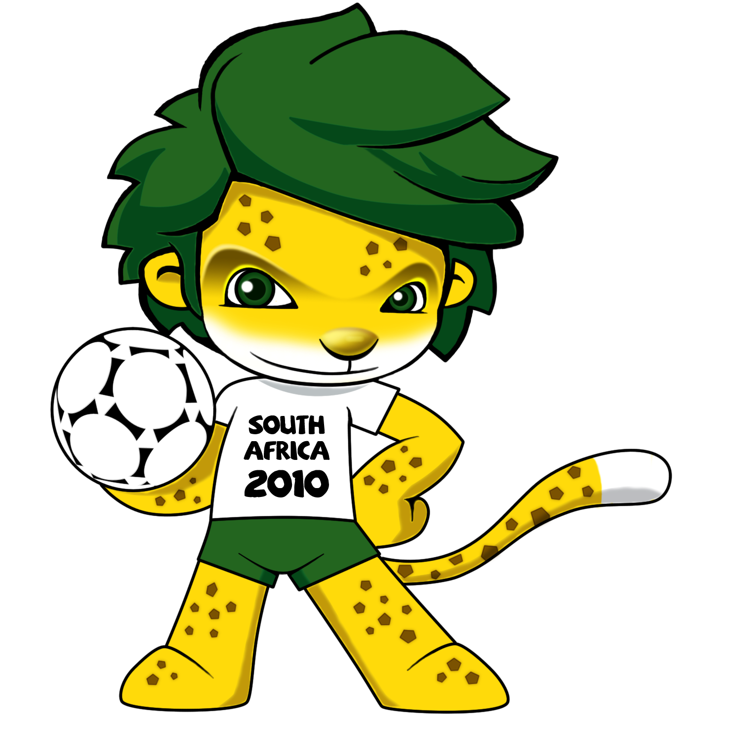 zakumi is a leopard a common animal found in south a proudly