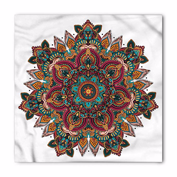 Amazon.com: Ambesonne Unisex Bandana, Colorful Abstract ...