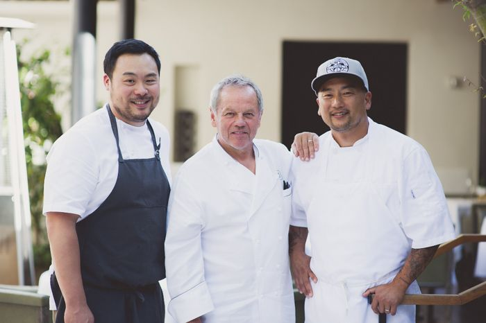Evening photoshoot with Chefs Wolfgang Puck, David Chang & Roy Choi ...