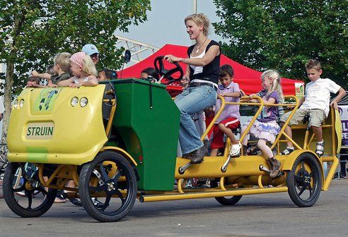Bicycle Buses Let Dutch Kids Pedal Together To School Cargo Bike