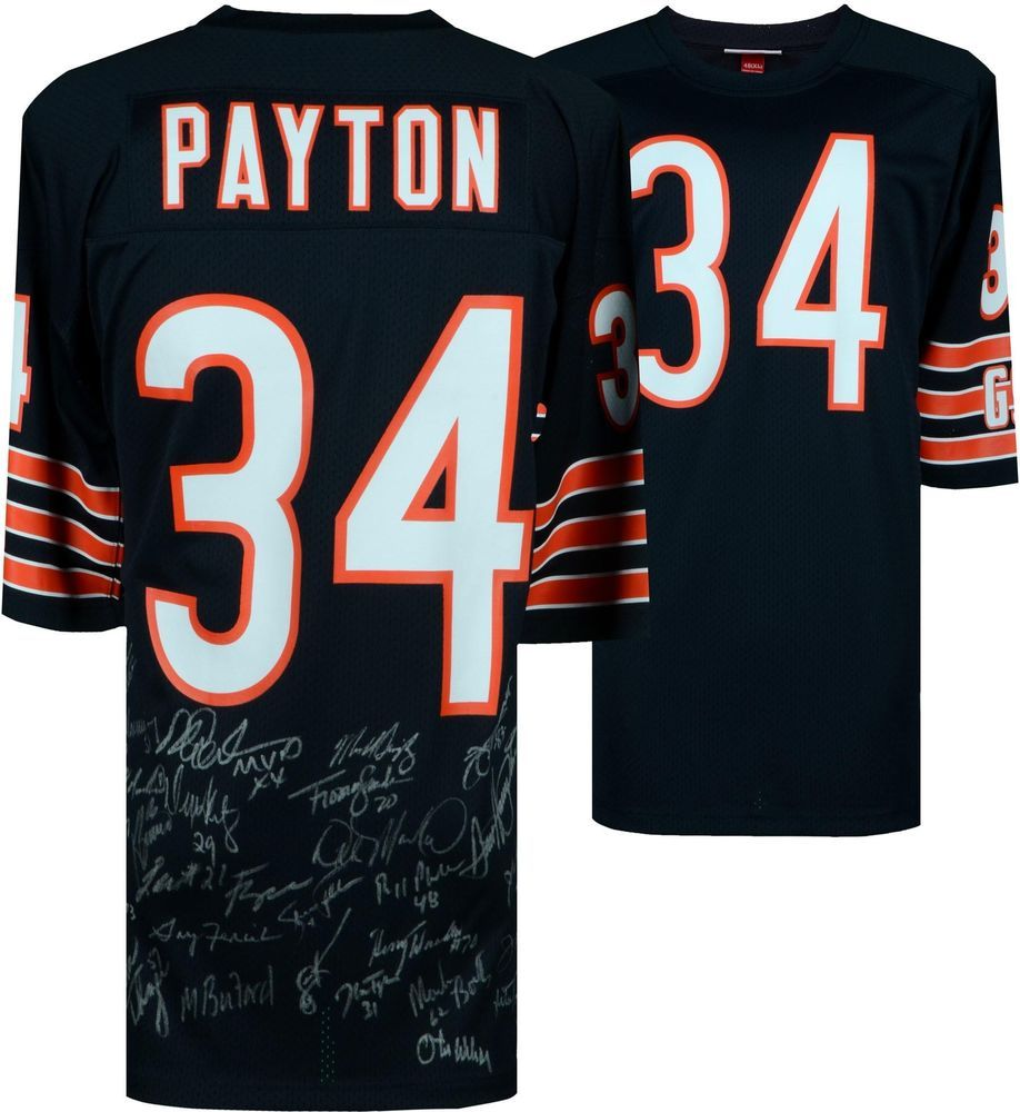 quality design 55f52 afcca 1985 Chicago Bears Team Signed Walter Payton Mitchell & Ness ...
