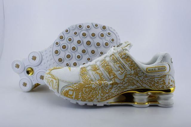 Nike Shox White And Gold