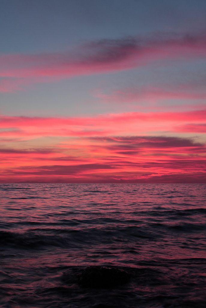 d17d4e33e89de mar entardecer cores   Água em 2019   Por do sol, Paisagens e Céu