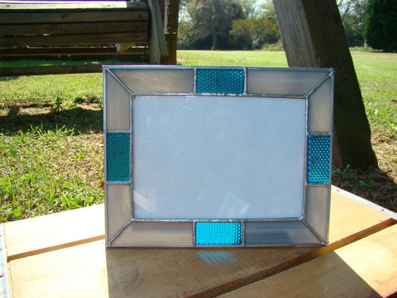 5 x 7 Gray and Blue Picture Frame