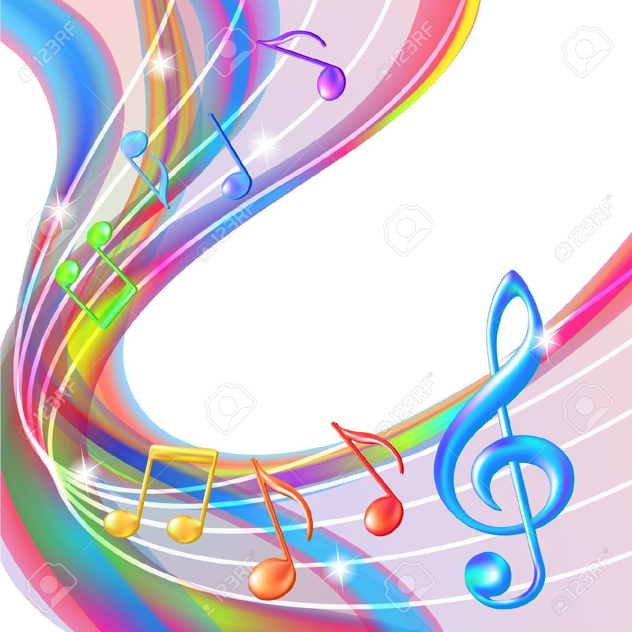 Colorful Abstract Notes Music Background Illustration Music Notes Art Music Wallpaper Music Backgrounds