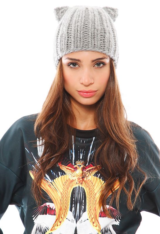10b41611176 Eugenia Kim Felix Knit Cap with Cat Ears. This kitty hat doesn t light up.  It doesn t move based on your emotions. Proceeds don t go to starving  children.