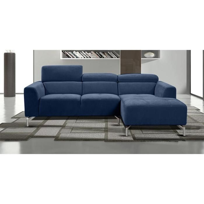 Gemma 2 Piece Right Facing Chaise Sectional in Navy Blue