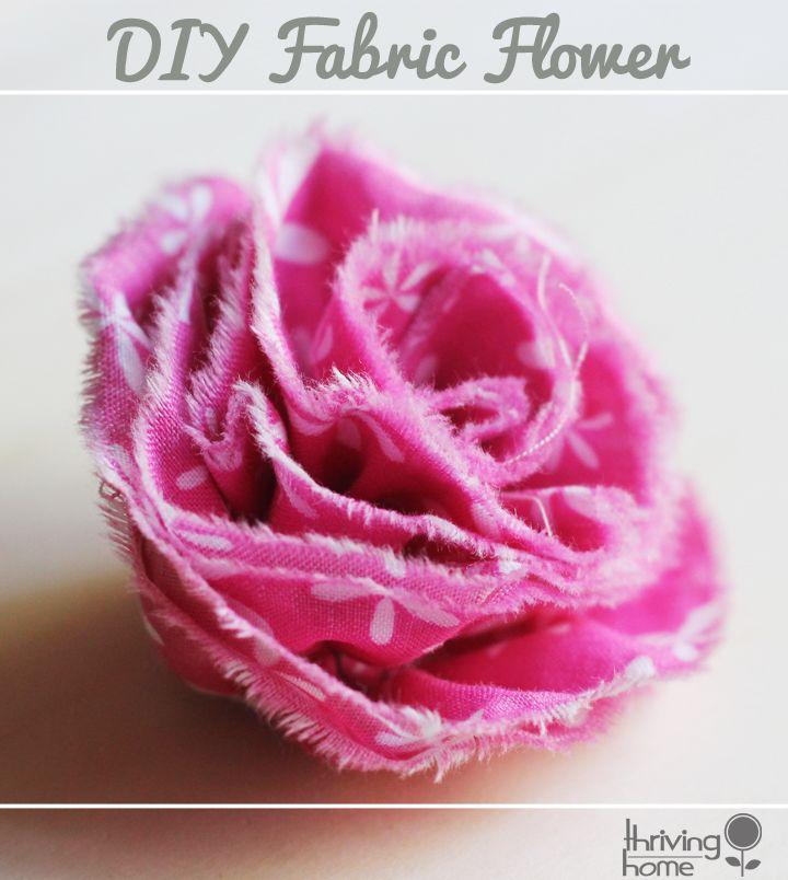 DIY Ruffled Fabric Flower - Thriving Home