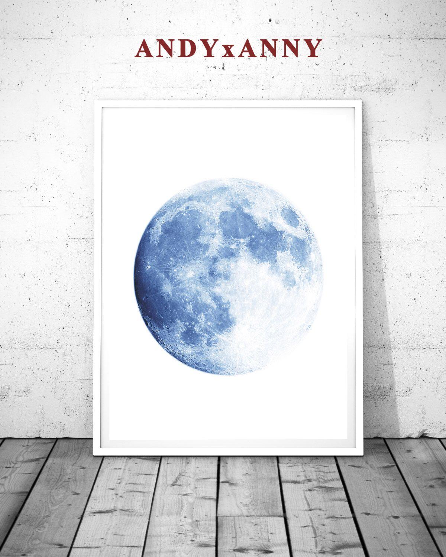 Moon printable moon poster moon print moon photo moon art print