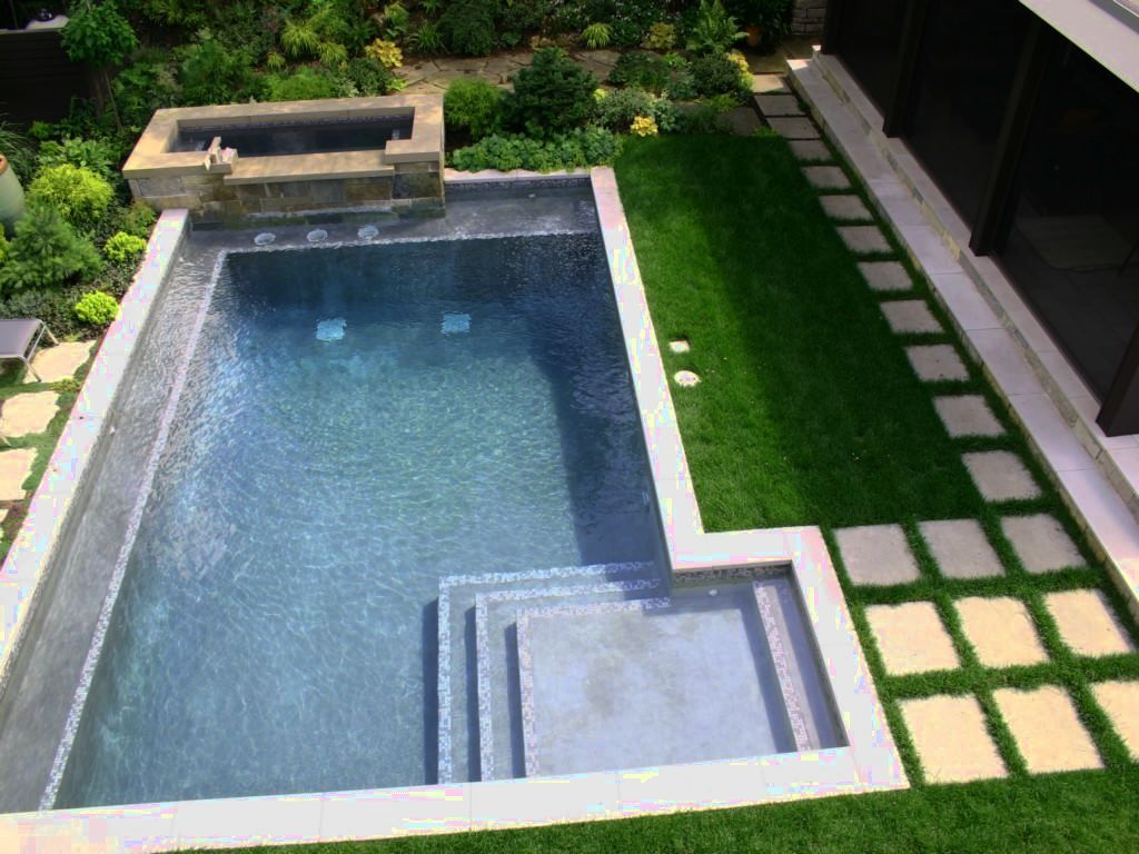 Modern garden design with pool - Just Love The Shape And Poolside Grass For Softness Cedar Isles Contemporary Pool Minneapolis Phillips Garden