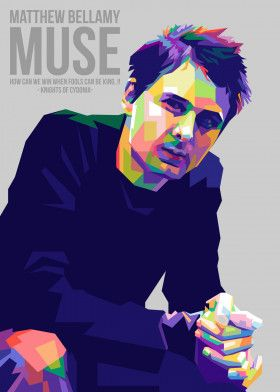 Matthew Bellamy Muse | Displate thumbnail