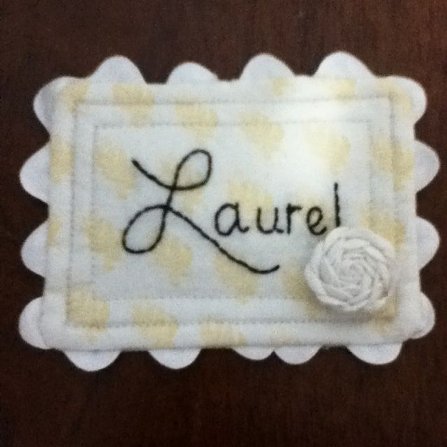how to make machine embroidered name tags