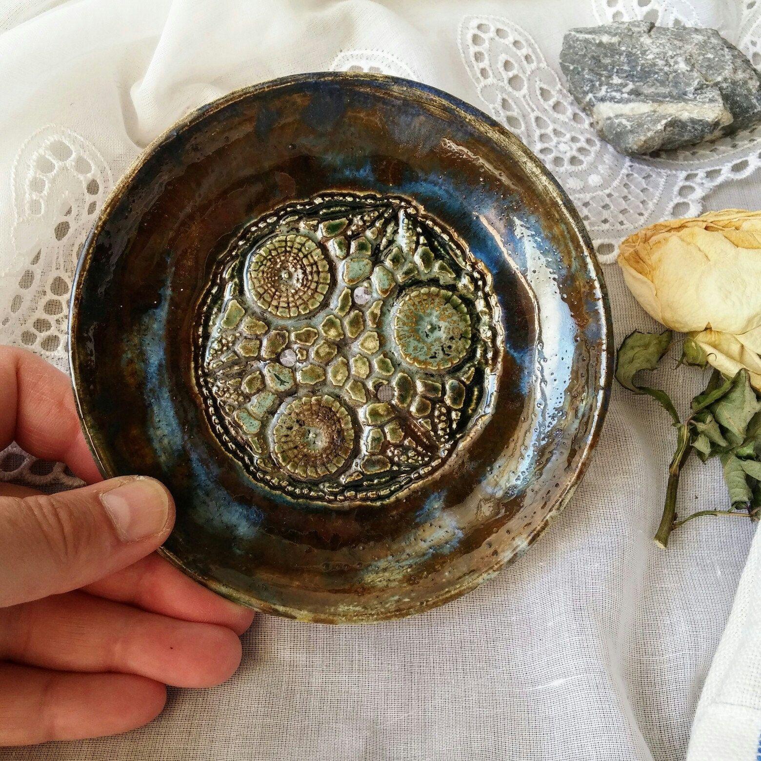 Badezimmer dekor rustikal runde seifen schale seifen aufbewahrung karamik seifenschale