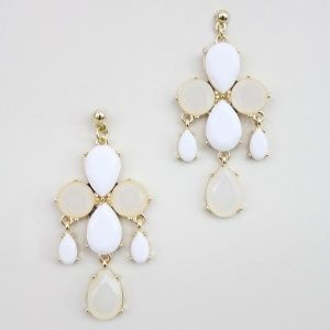 "As seen on ShopDesignSpark.com  -acrylic stones. plated brass  -approx. 2.3""long, 1.5""wide  -imported"