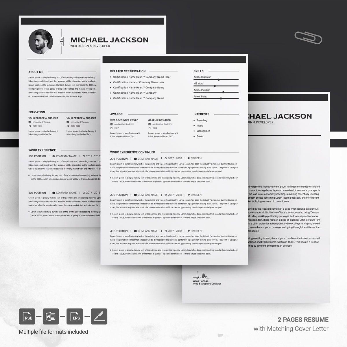 Officer Resume Template 73884 Cv template, Creative