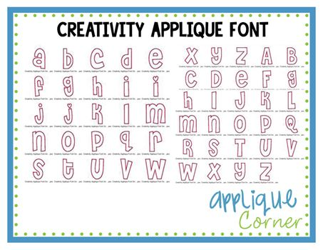 Creativity applique font design fonts pinterest fonts offering thousands of embroidery and applique designs fonts sewing supplies and tools spiritdancerdesigns Gallery