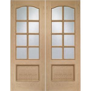 Internal Oak 8 Light Door Pairs 60in Oak Doors Internal French Doors Internal Doors
