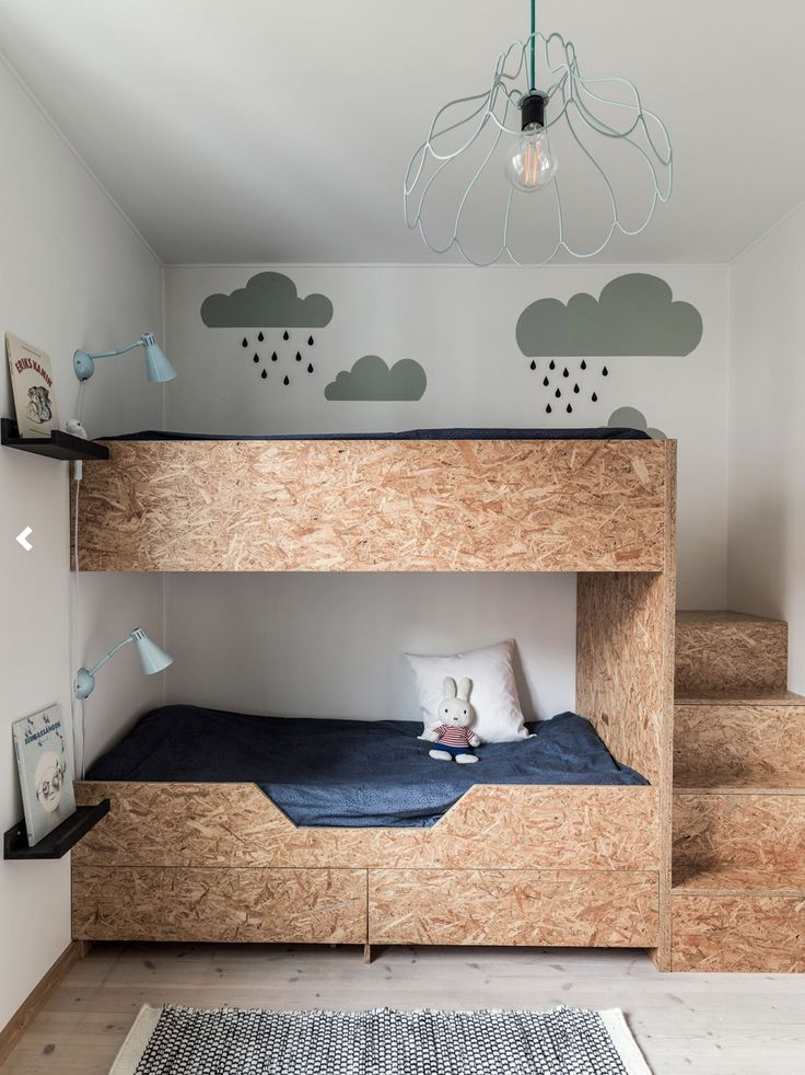Particle board bed in kids room d i y bedroom kids for Mobilia uno furniture