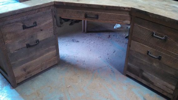 Your Custom Made Rustic Barn Wood Corner Desk By Timelessjourney