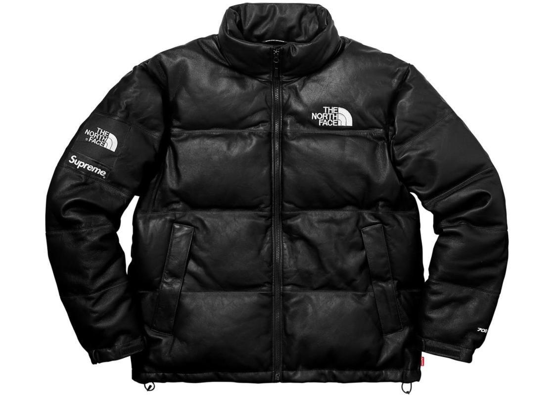 Supreme X The North Face Leather Jacket Jacket 180 Winter Jacket North Face North Face Nuptse Jacket Nuptse Jacket [ 800 x 1120 Pixel ]