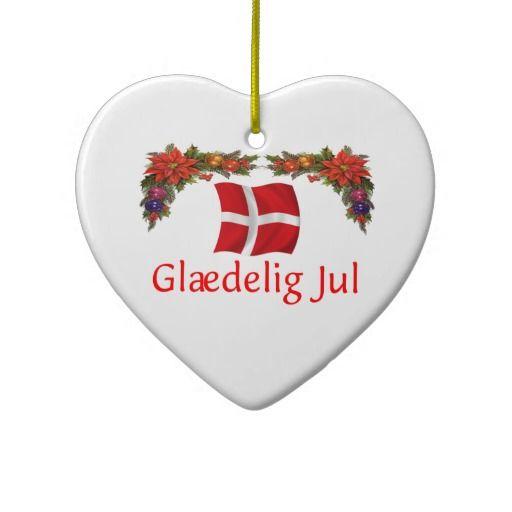 Denmark Christmas Ornament #scandinavian - Denmark Christmas Ceramic Ornament Christmas :: Scandinavian