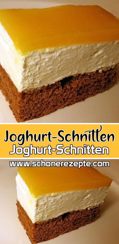 Joghurt-Schnitten Rezept - Schnelle und Einfache Blechkuchen-Rezepte #kuchenkekse