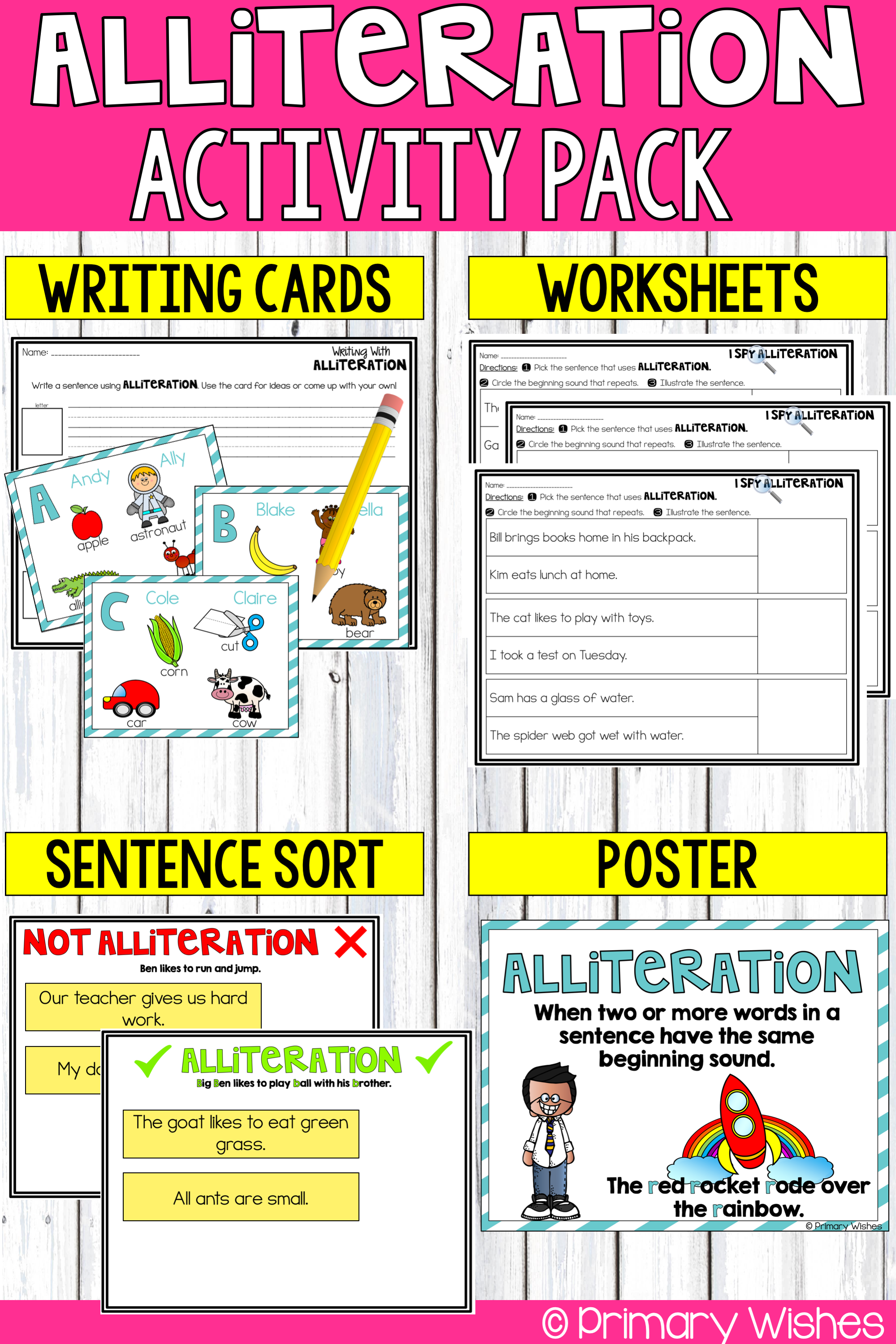 Alliteration Activities In