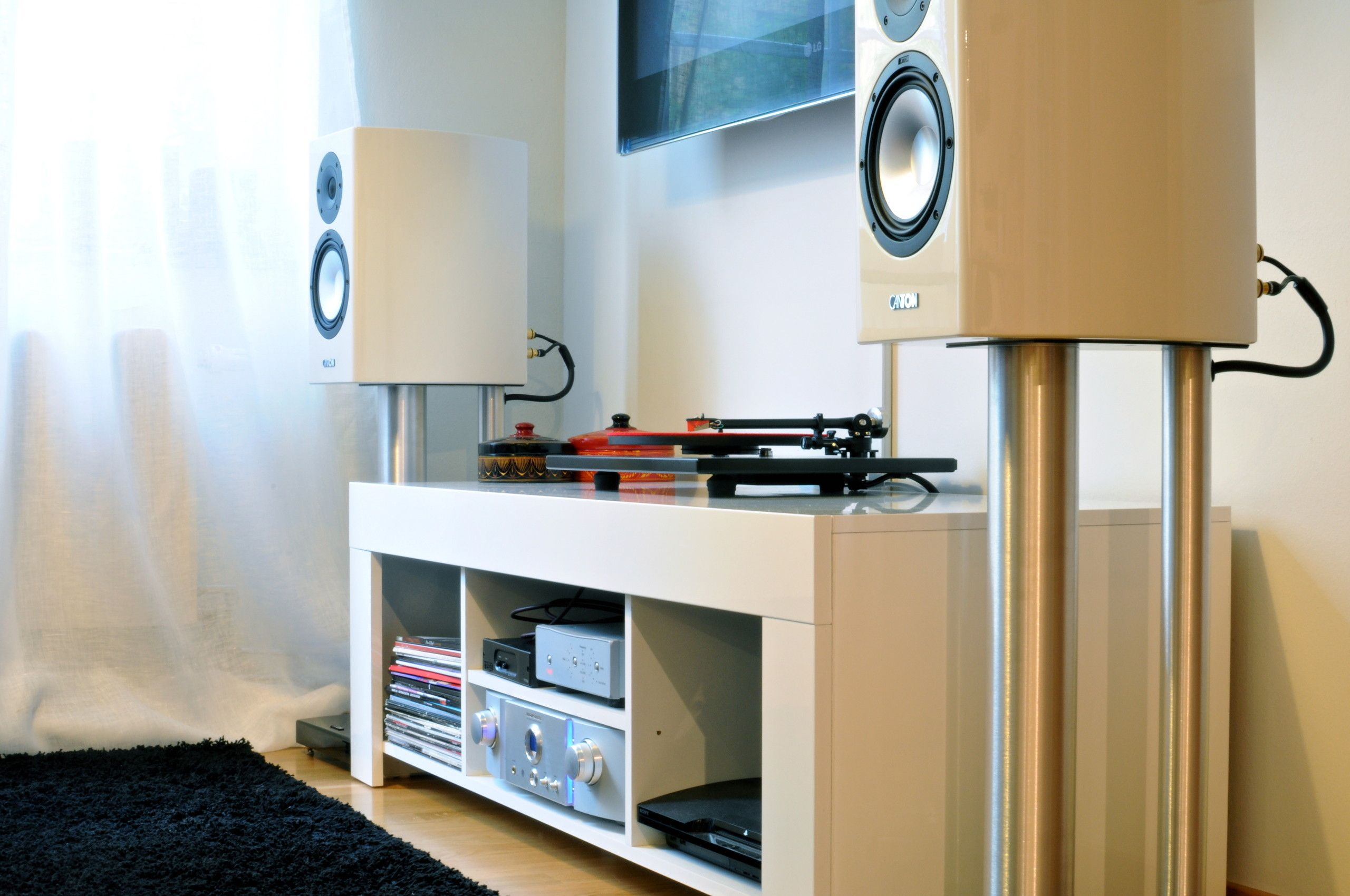 Img Audio Systems Pinterest Stereo Cabinet Apt Ideas And  # Meuble Home Cinema Diy