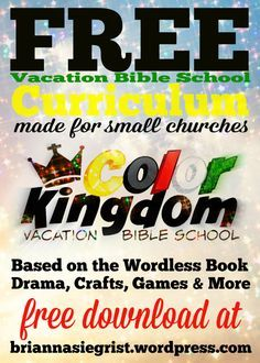 Free Vacation Bible School Curriculum | Create crafts | Vacation